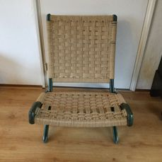 Ebert Wels typically designed vintage rope chair Catawiki