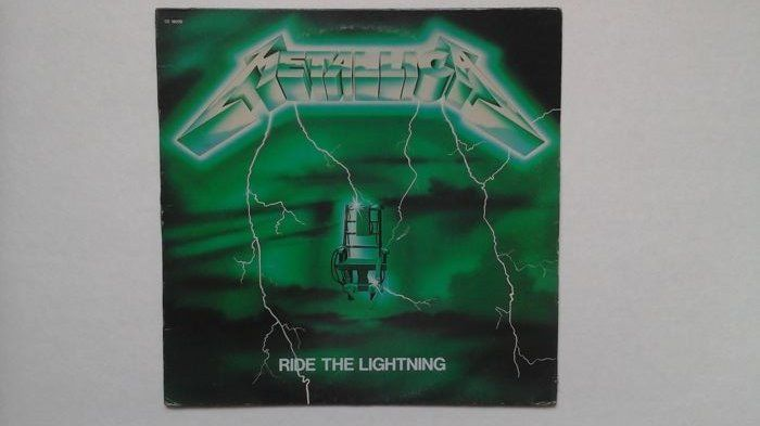 Metallica - Ride The Lightning  -  Original French Lp With Green Sleeve