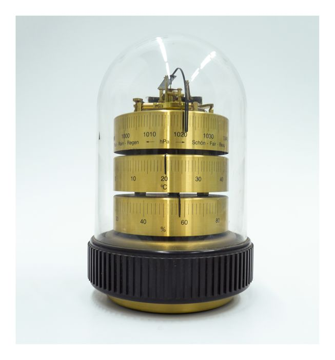 Barigo Weather Station - Bell Jar model - Barometer - Thermometer - Hygrometer. Made in Germany