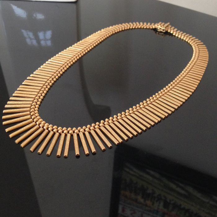 18 kt yellow gold necklace