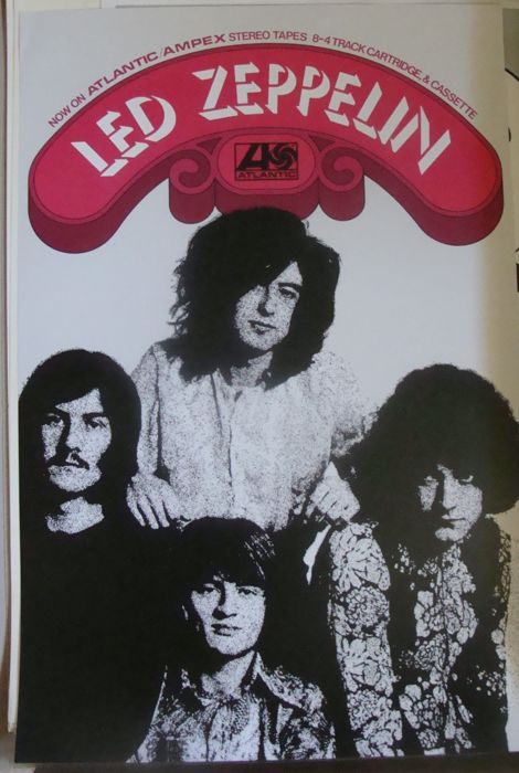 Led Zeppelin 1st album Atlantic Records 1969