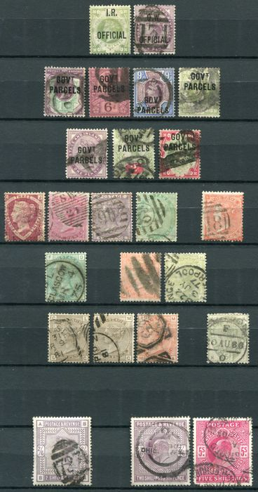 Great Britain 1870/1902  - Assortment on stock cards
