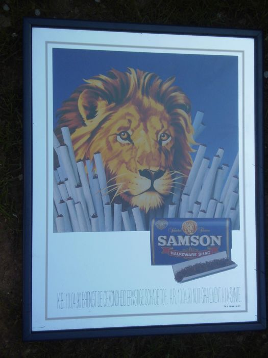 Advertising mirror Samson tobacco - 1995