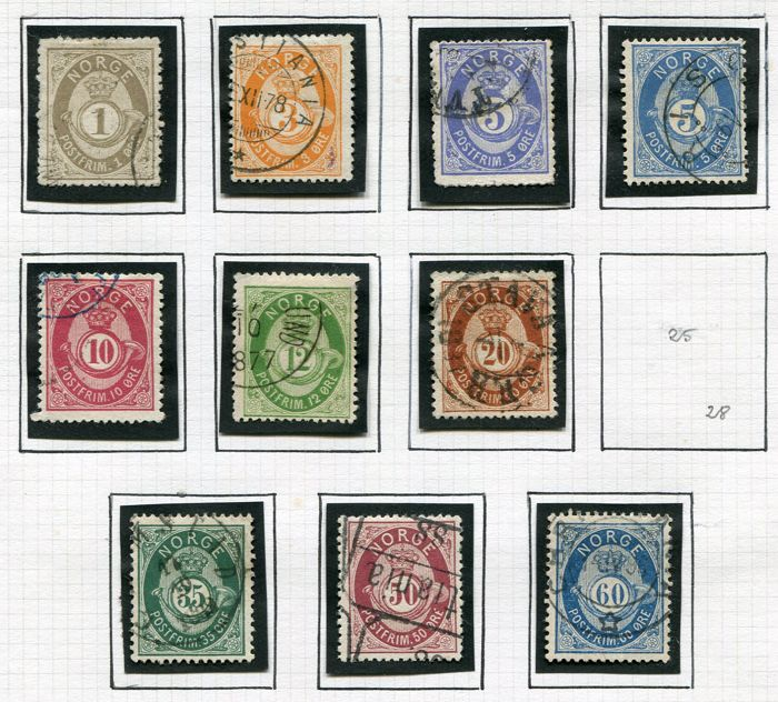 Norway 1877/1940 -  Collection beginning with classics