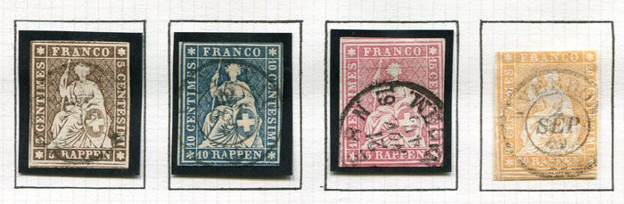 Switzerland 1854/1940 - Collection beginning with classics