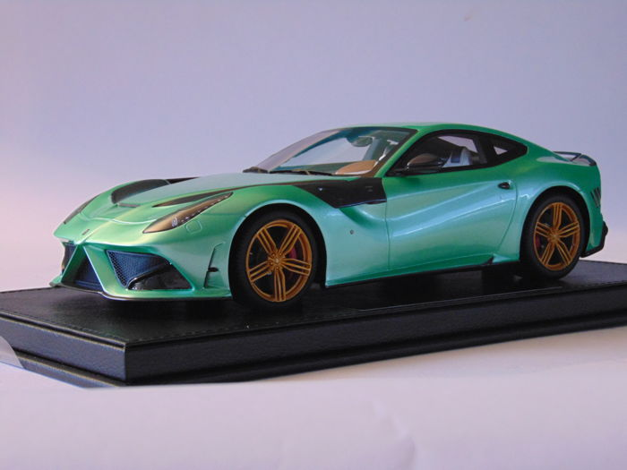 BBR Mensory - Scale1/18 - Ferrari F12 Mensory- Stallone - Mint-Green - Limited Edition 15 pieces
