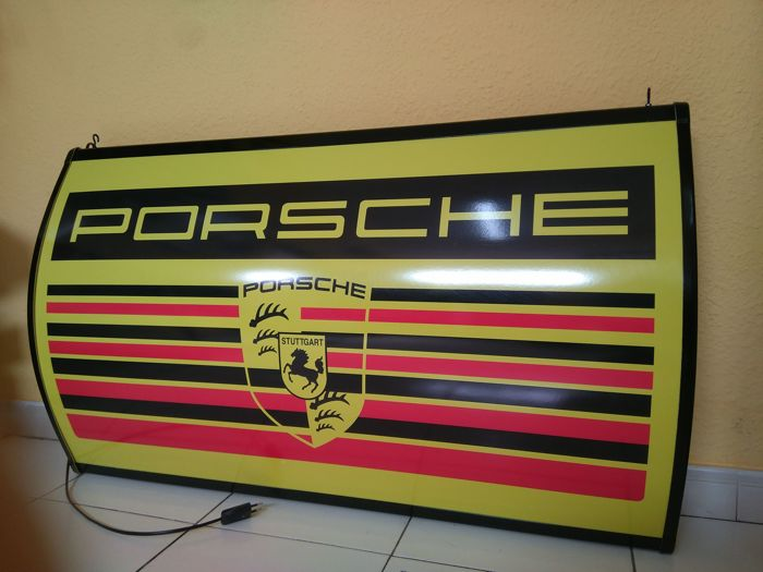 Large luminous sign of PORSCHE 20th century
