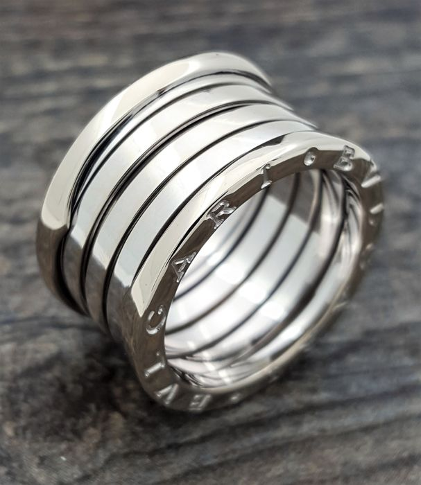 Bulgari B.Zero 1 - 4 Band White Gold ring -Size 52