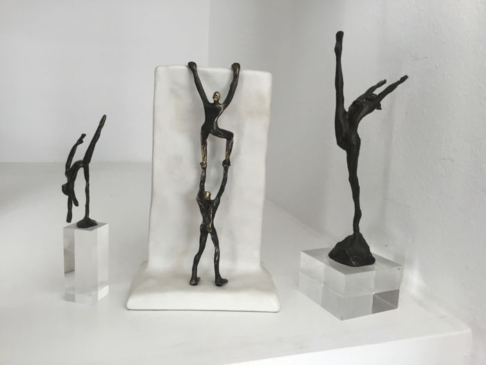 Corry Ammerlaan van Niekerk - Three bronze-plated sculptures