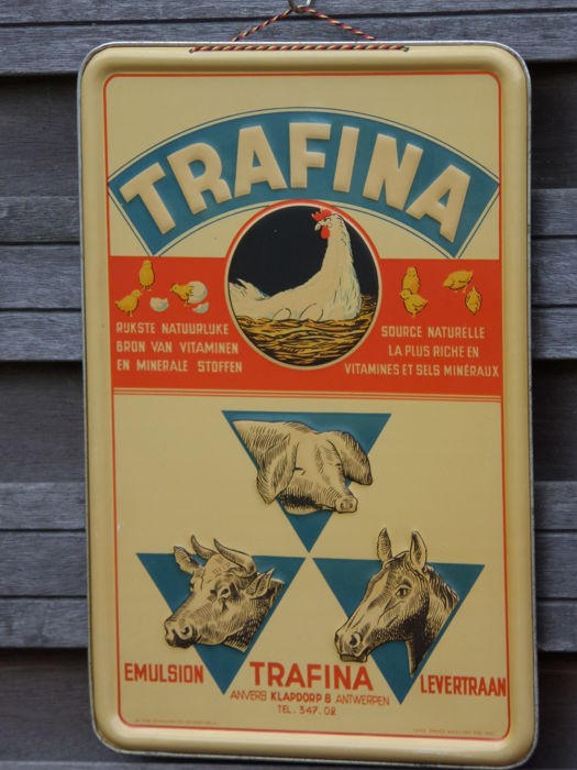 Advertising sign Trafina -Emulsion 1947