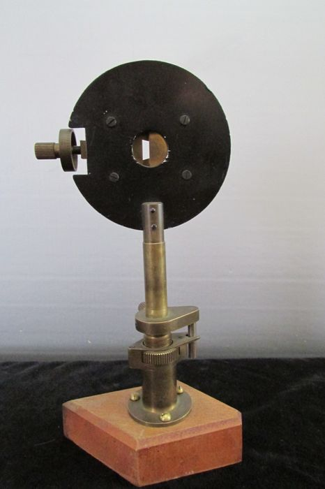 Antique brass laboratory made instrument to measure light - 20th century
