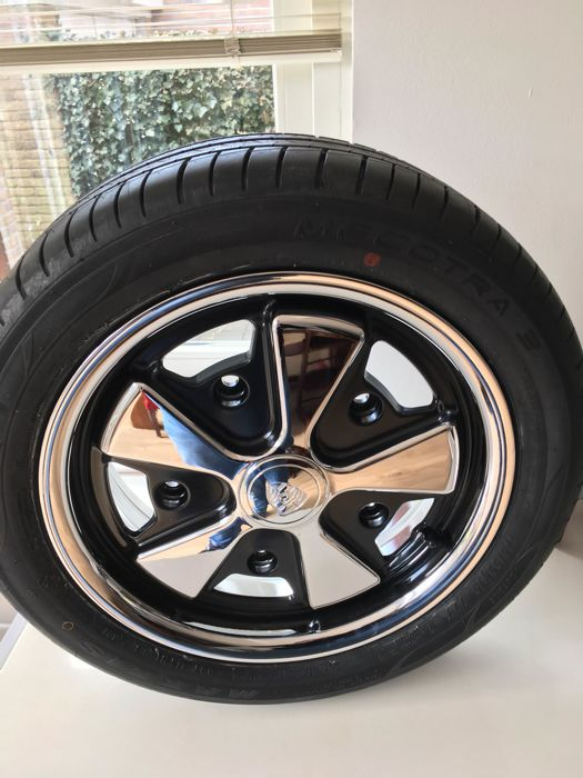 Replica Fuchs rims 15 inch - for Volkswagen - 4 pieces with new tyres