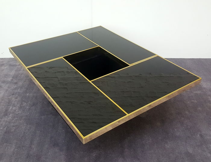 Willy Rizzo Coffee Table.Attributed To Willy Rizzo Coffee Table With Hidden Bar Catawiki