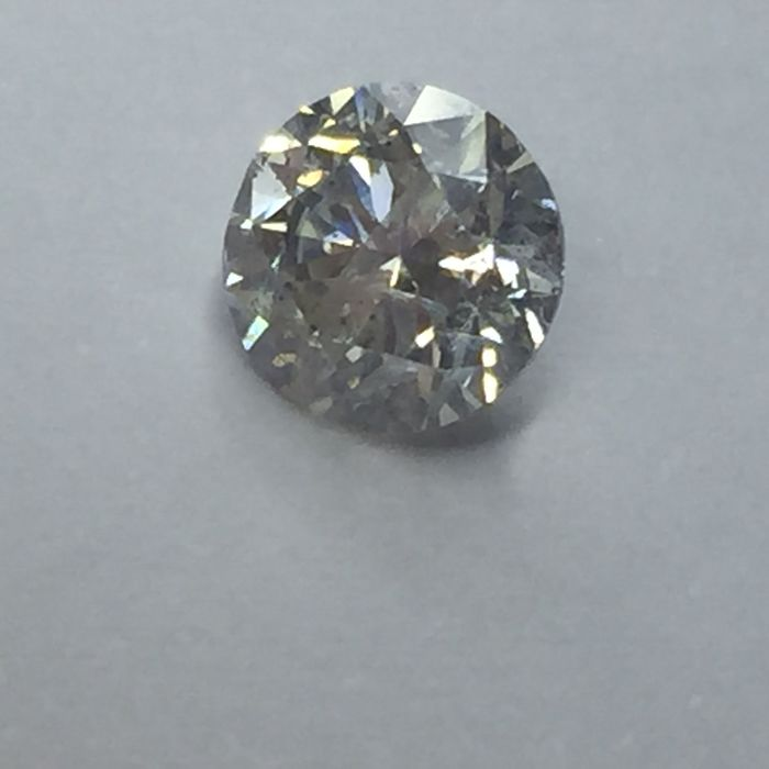 1.01 carat - Colour G - SI1 - 3 x Excellent - with AIG certificate and laser inscription