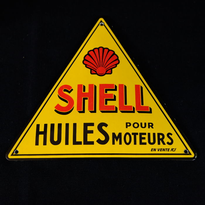 Shell emaille logo – Huiles Pour Moteurs -