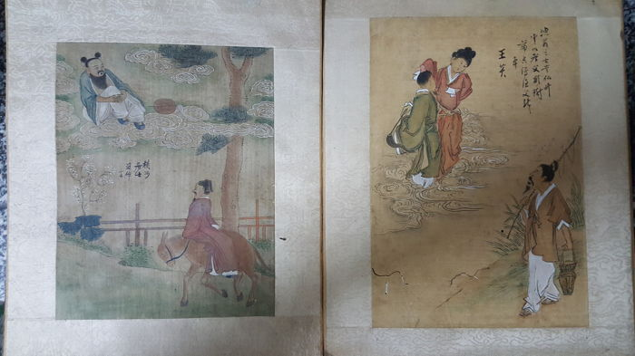 Lot of 2 Chinese paintings - China, second half of the 20th Century