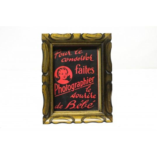 Old advertising frame 1930-40