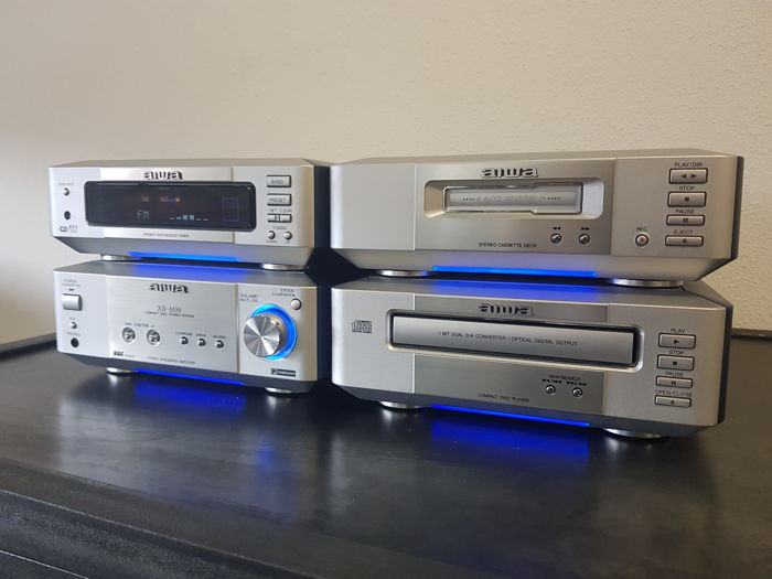 Aiwa XRM 99 Blue Pearl Stereo System - Catawiki