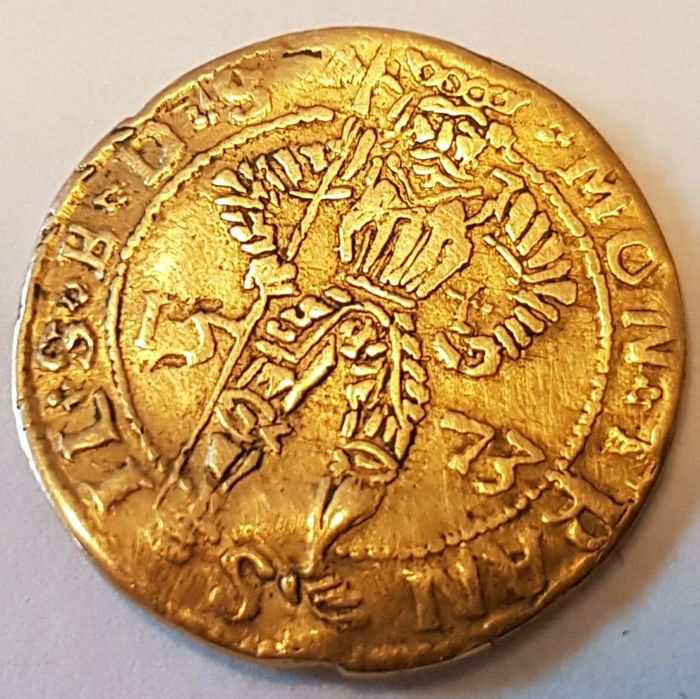 Transilvania, Stephan Bathory - Ducat year 1573 - gold