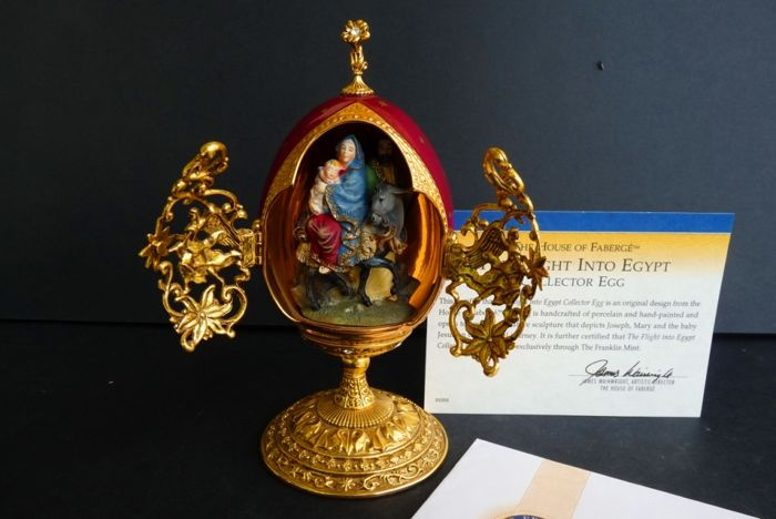 House of Fabergé - 'The Flight Into Egypt' - Collector egg - Enamel - Swarovski rhinestones - 24K gold plated - Numbered