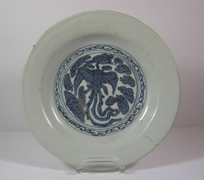 Deep plate - porcelain - China - Swatow, 16th century