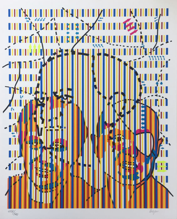 Yaacov Agam - From David Ben Gurion Portfolio
