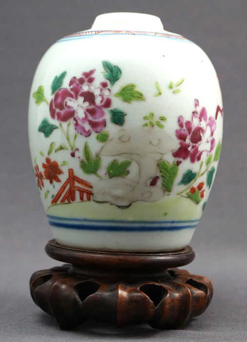 Spherical Vase With Famille Rose Scenery Of Blossom Branches On