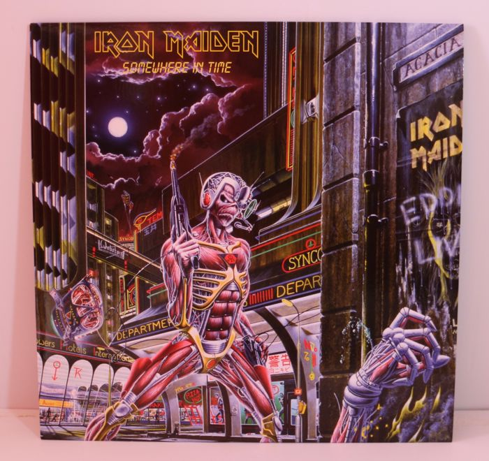 Iron Maiden : lot of 4 LP Albums