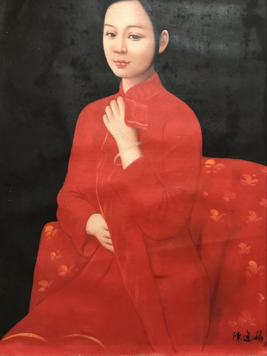 Oil painting in style of Chen Yifei - China - late 20th