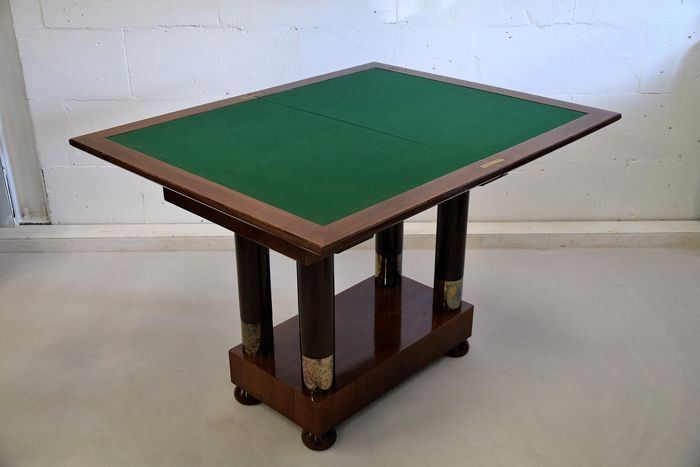 Art Deco Mahogany Foldable Game Table