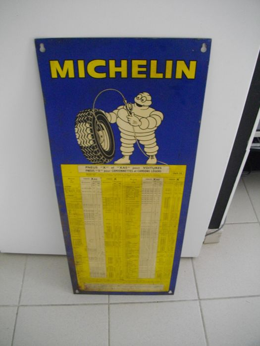 Old plate - pressure of Michelin tires 1969/1970