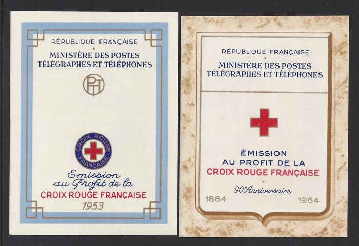 France 1953/1954 - Red Cross booklets - Yvert 2002 and 2003