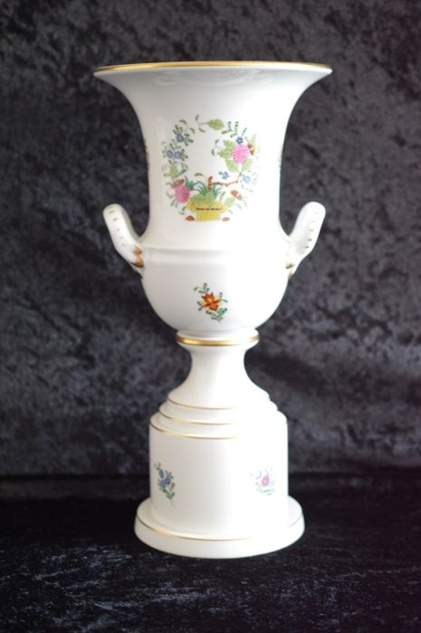 Huge Herend Pedestal Vase