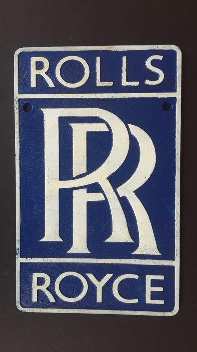 Vintage Rolls Royce Wall Plaque/Sign