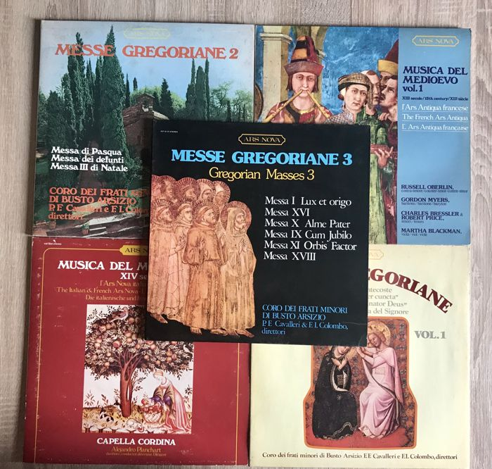 Middle Ages music / Gregorian chants - Lot of 10 albums