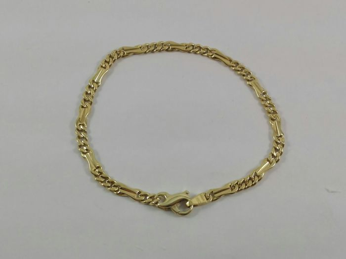 Men's bracelet in 18 kt yellow gold  Weight 12.4 g