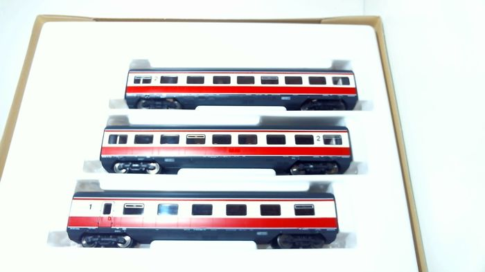 Roco H0 - 43903 - Passenger carriage - 3 x passagier wagon TEE - SBB-CFF