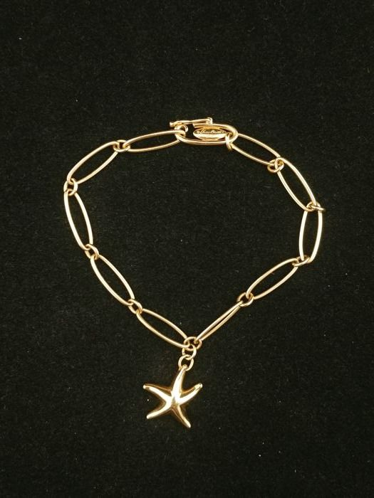 6773f6595 Tiffany bracelet in 18 kt gold, Starfish collection - Designed by Elsa  Peretti - length: 11.5 cm