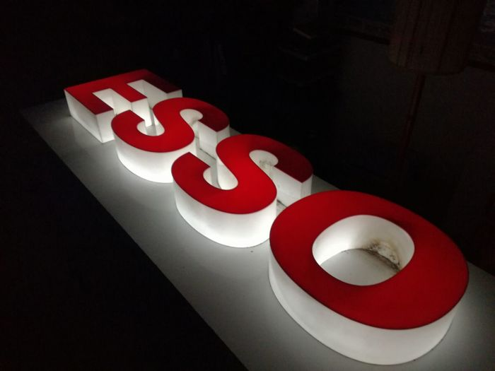 ESSO lighted sign - 1970s/80s