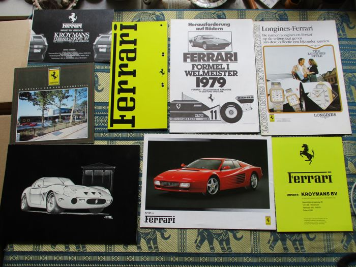 Brochures/ Catalogues - Ferrari, divers materiaal - 1979-1994 (8 items)