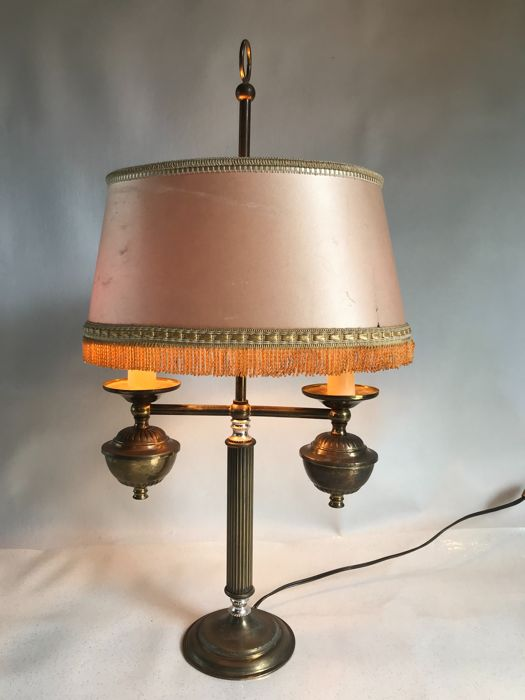 Brass table lamp from the 1950s - France