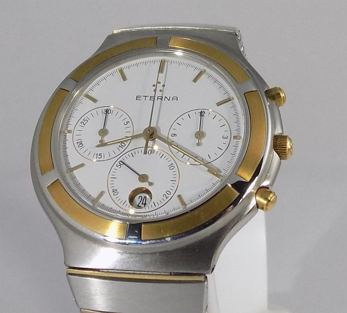 Eterna - Airforce Chronograph - 18K/SS  - C 441 - Heren - 1992