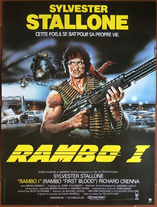 rambo first blood french movie poster 1984 sylvester