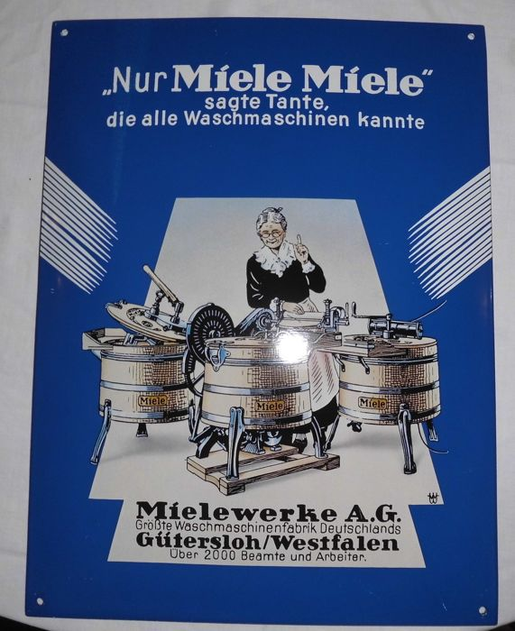 Miele enamel sign