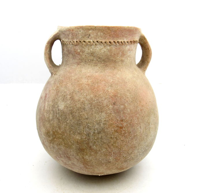 Prehistoric Bronze Age Holy Land Storage Vessel - 185 x 150 mm