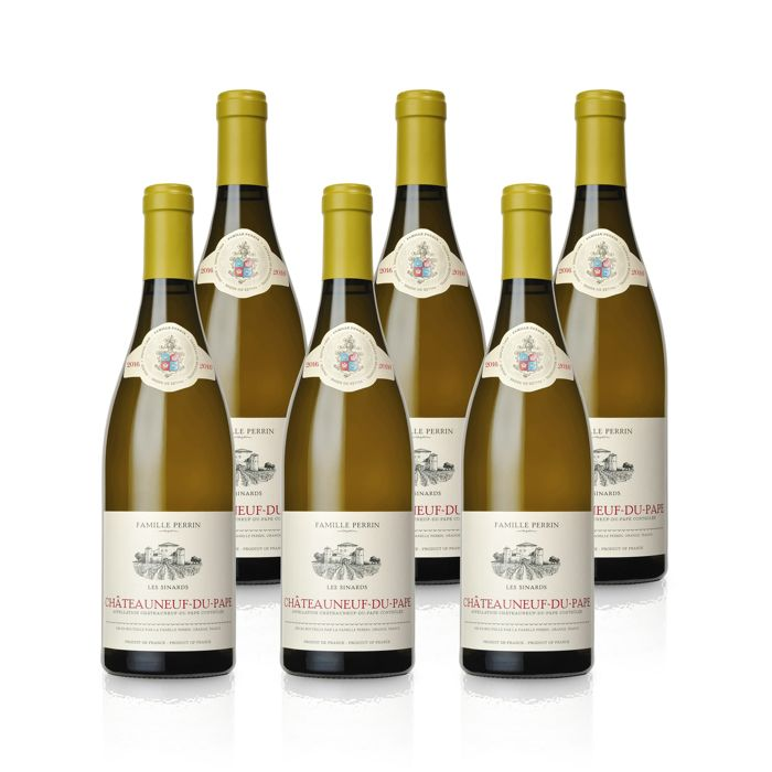 2016 Perrin Family - Châteauneuf du Pape White 'Les Sinards' - 6 Bottles