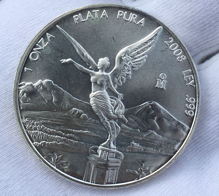 Mexico - Libertad - Year 2008 - 1 OZ Silver Coin