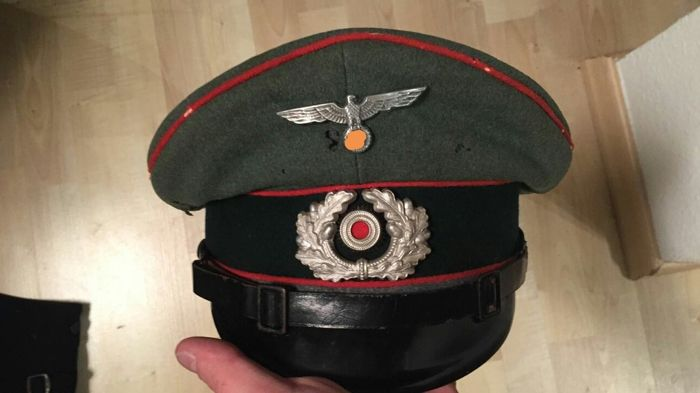 28d5813efcc Peaked Cap of the Wehrmacht Artillery - Catawiki