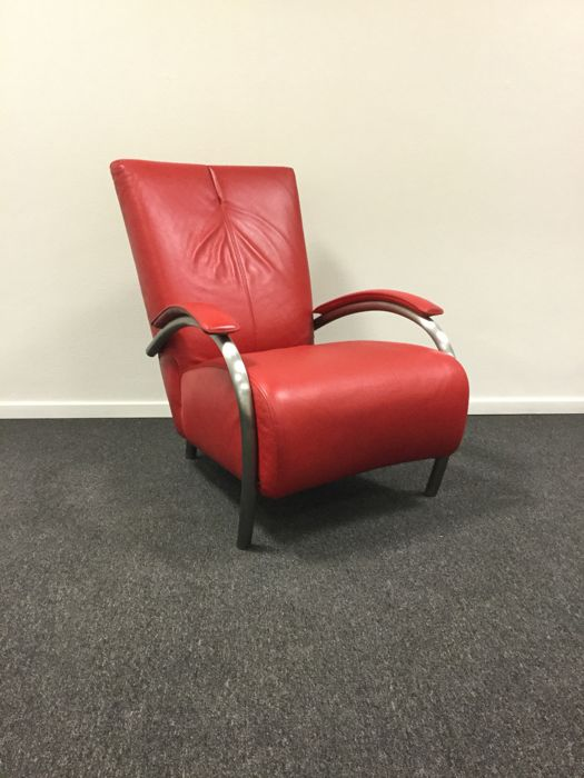 Molinari Fauteuil Leer.Molinari Accademia Armchair Red Leather Kahos Catawiki
