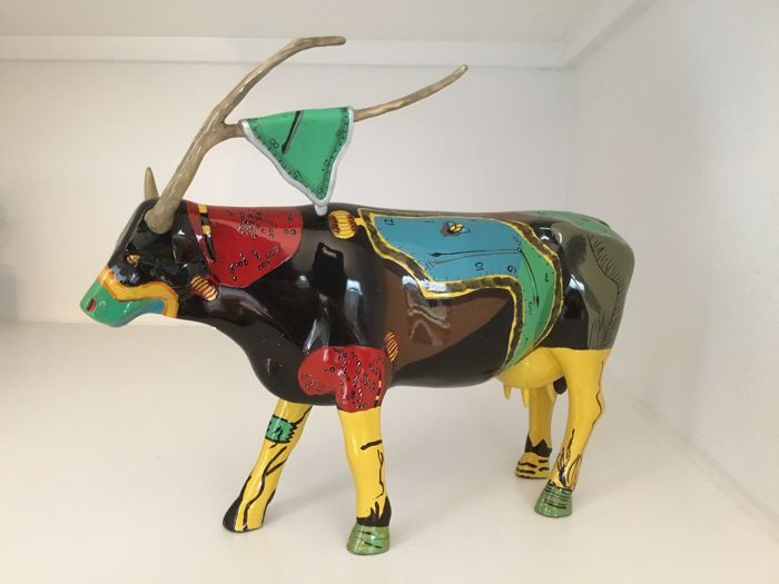 Cow Parade Cowparade - Salvador Cowli - large - Resin en retired in doos met tag